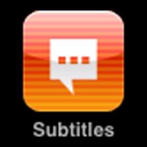 Orange balloon icon for Subtitles application