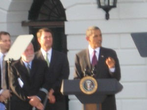 Obama speaking on the anniversary of the ADA
