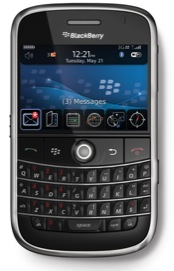 A blackberry smartphone
