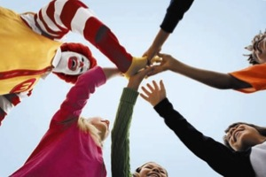 Ronald McDonald with Children