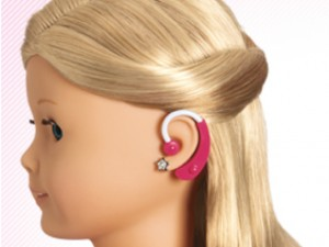 American Girl doll with a hearing aid